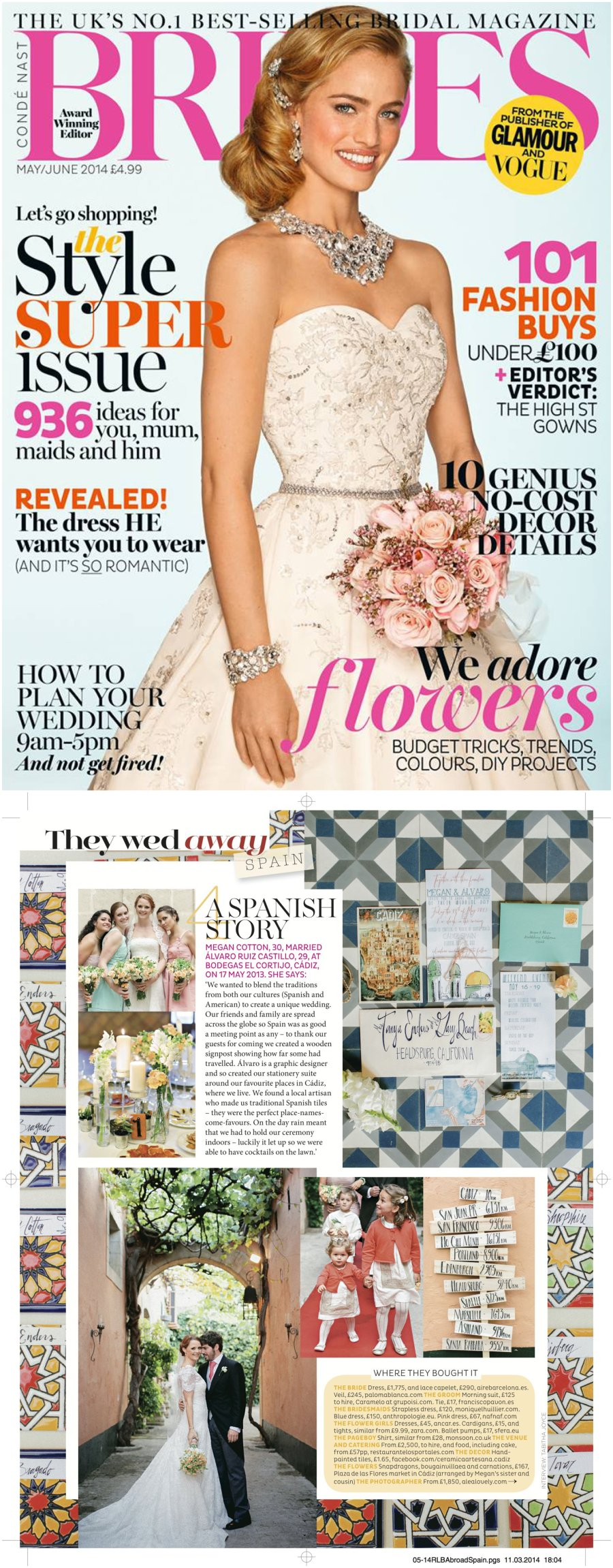 Alea Lovely Published in Bride's UK